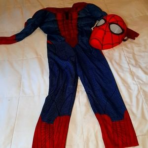 Talking marvel spiderman costume sz 6 halloween
